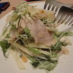 ソレイユ - 鶏肉とリンゴと水菜のサラダ