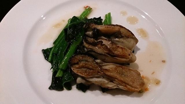 青海波 - 青海波 @松岛温泉汤元松岛一の坊 松岛产牡蛎の鉄板焼き