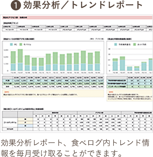 1.効果分析/トレンドレポート