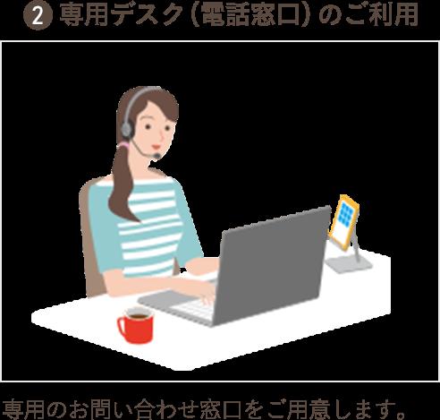 2.専用デスク(電話窓口)のご利用