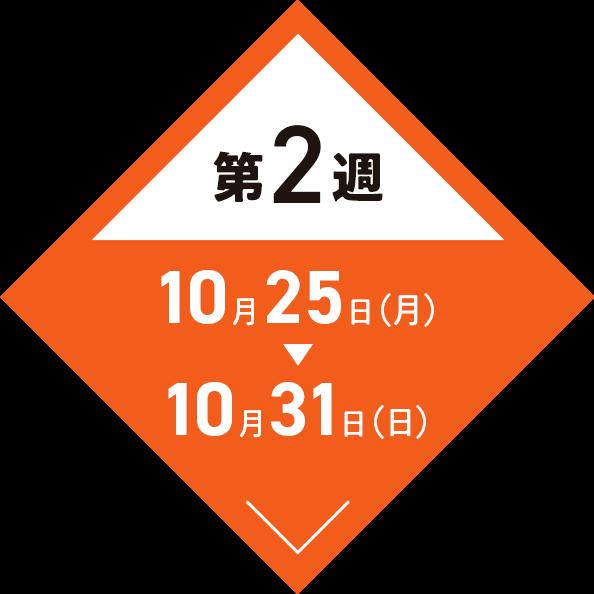 第2週:10月25日(月)〜10月31日(日)