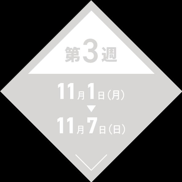 第3週:11月1日(月)〜11月7日(日)