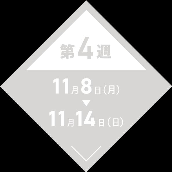 第4週:11月8日(月)〜11月14日(日)