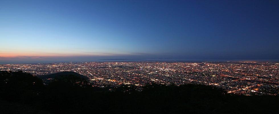 日本を代表する夜景都市-札幌