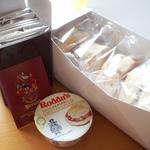 スコーン5個セット+クロテッドクリーム+紅茶お試しセット+送料=2310円