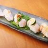 ときすし - 料理写真:太刀魚三昧880円(生ワサビ、生ショウガ、炙り塩すだち、炙りポン酢、炙りバター醤油)