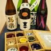 東香福如 - ドリンク写真:日本酒 色とりどりのおちょこで
