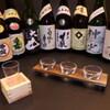 いけ洲 博多屋 - ドリンク写真:銘酒【飲み比べセット】1000円。  3種類のお好きな組み合わせでどうぞ