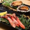 和火一 - 料理写真:どちらも贅沢に【鮑とタラバ蟹コース】