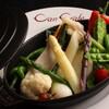 Bistro&BeerCafe CANCALE - 料理写真:東八野菜のローストナッツの香りのロメスコソース 1200円