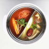 NANI 回転小火鍋 - 料理写真:トマトときのこの二色鍋