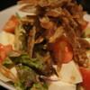串焼きダイニング十兵衛 - 料理写真:女子に人気、豆腐とごぼうチップの胡麻サラダです♪