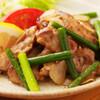 鯨海 - 料理写真:四万十鶏のニンニク炒め