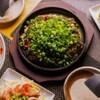 広島風お好み焼 鉄板焼き 花火 - 料理写真: