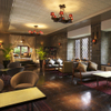 THE FUJIYA GOHONJIN - 内観写真:旅館時代の面影を残したラウンジは、カフェでの利用も可能。