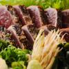八金 - 料理写真:カツオの塩タタキ 八金風
