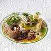 銀座 レカン - 料理写真:仔牛のロティ 白アスパラとモリーユ茸のフリカッセ 新玉葱のソースリヨネーズ バルサミコ風味