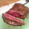 とんつう - 料理写真:原始肉を切った所