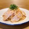ワインノルイスケ - 料理写真:胸肉と大葉と明太子のスパゲティー