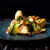 PIOPIKO - 料理写真:海老と芋のフライドタコス、トマトとキャベツのサルサ