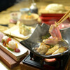 神楽坂 久露葉亭 - 料理写真:秋田産比内地鶏の鶏すき鍋のランチ