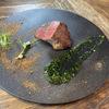 シャイニーアウル - 料理写真:山形牛 海苔 茶分