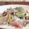 麦小家 - 料理写真:生ハムときのこのクリームスパゲティ