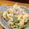 居酒屋 みかさ - 料理写真:《お通し》 ポテトサラダ。ホルモン屋ですが、常連に人気です!