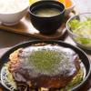 弘Tomorrow - 料理写真:お好み焼きと汁・サラダ・デザート付きのランチセット