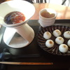 新宿御苑 ろまん亭 - 料理写真:お団子フォンデュ お茶付 ¥580