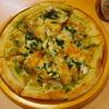 八丈島 - 料理写真:八丈島ピザ¥680 あしたば、くさや入りです!