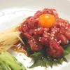 日比谷三源豚 - 料理写真:復活!牛肉ユッケ 1280円♪