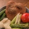 焚火家 - 料理写真:旬の野菜をおりまぜた野菜焼きの盛合せ。野菜の甘みが際立ちます!