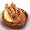 スペインバル グラシア - 料理写真:海老の塩フリット 780円 殻ごと全て食べられて衣はカリカリ