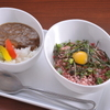Ramu Tokyo - 料理写真:<ミニとろ桜フレークご飯&ミニ馬すじカレー> 当店人気メニューを一度に楽しめるミニセットです。