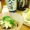 蕎麦切 砥喜和 - 料理写真:夏のお酒と特製冷やし蕎麦・ハモの天ぷら