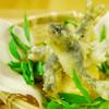 蕎麦切 砥喜和 - 料理写真:活け鮎の素揚げ