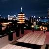 バーシス - 内観写真:幻想的な浅草寺のライトアップを目の前でお楽しみいただけるのは当店だけ!~屋上テラス席~
