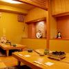 大塚 三浦屋 - 内観写真:掘りごたつ式の個室です。7〜12名様までご利用可能(2テーブル間が空いてしまいます)