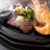 肉の万世 - 料理写真:黒毛和牛ステーキとジャンボロブスター