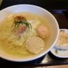 麺屋海神 - 料理写真:塩らぁめんへしこ焼きおにぎり付き