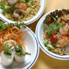 ソムオー - 料理写真:レディースセット 生春巻き、春雨サラダ、チャーハン3品のハーフサイズです。