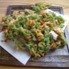 樽屋玄助 - 料理写真:天然あおさ海苔と桜海老のかき揚げ