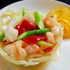 神戸元町別館牡丹園 - 料理写真:ポテトバスケットに入った海鮮と炒め物