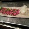 豚っく - 料理写真:十勝ハーブ牛のお刺身☆赤身がとにかく柔らかくてうまい!!