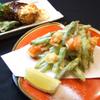 スタンドふじ - 料理写真:アスパラ海老かき揚げ480円