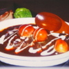 Toshi - 料理写真:☆ブラックカリーハンバーグ(うずらの卵入り)