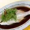 紫微星 - 料理写真:清蒸鮮魚 広東の名物料理 魚の姿蒸し広東風