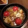 ルーチェ - 料理写真:むき海老とジャガイモとプチトマトのアヒージョ♪