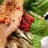 ホルモンA - 料理写真:韓国焼肉は付け合わせのサラダとキムチを巻いてお好みで♪